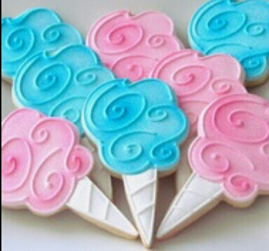 Cotton Candy cookies | Cookies | Pinterest