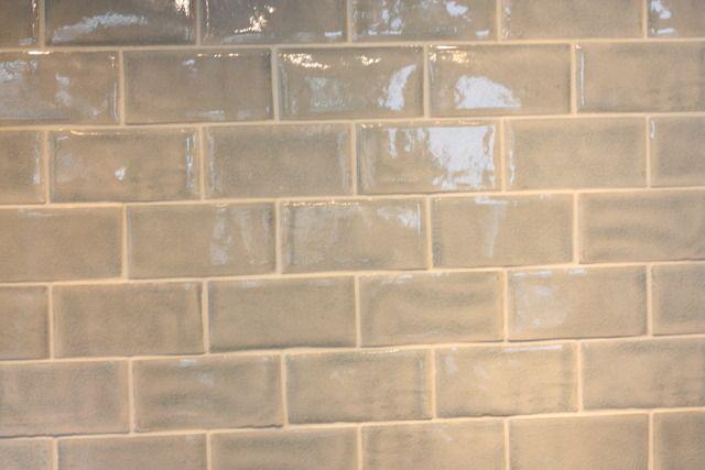 gray subway tile backsplash kitchen pinterest