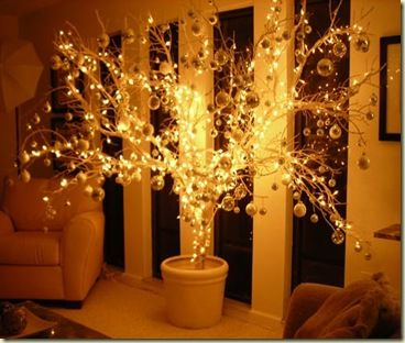 can of spray paint a lot cheaper than an artificial tree. Black Bedroom Furniture Sets. Home Design Ideas