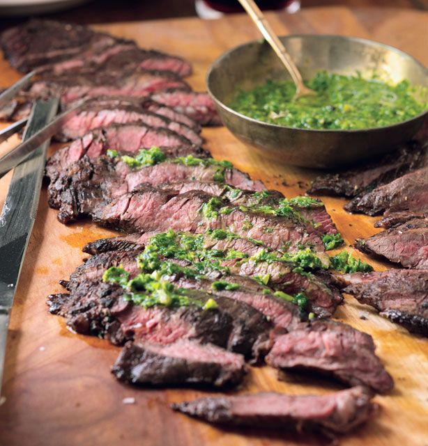 Grilled Skirt Steak with Roasted Jalapeno Chimichurri