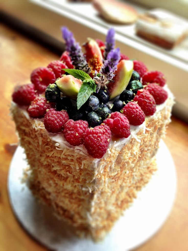 Coconut-Mint Cream Cake Recipe — Dishmaps