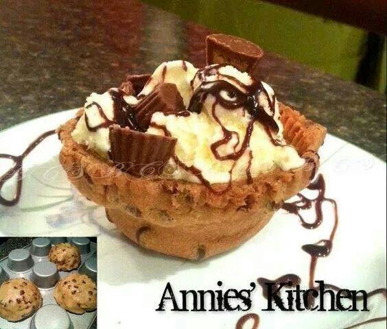 Chocolate Chip Cookie Bowls | Brownies, Bars, Cookies, etc. | Pinter ...