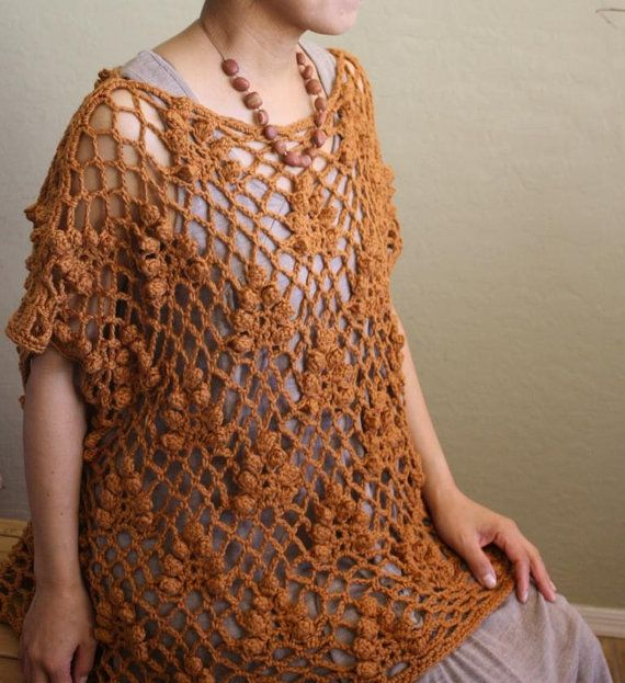 Crochet Patterns Intermediate : Sedona -A Shrug-like Garment - Crochet Pattern pdf for Intermediate