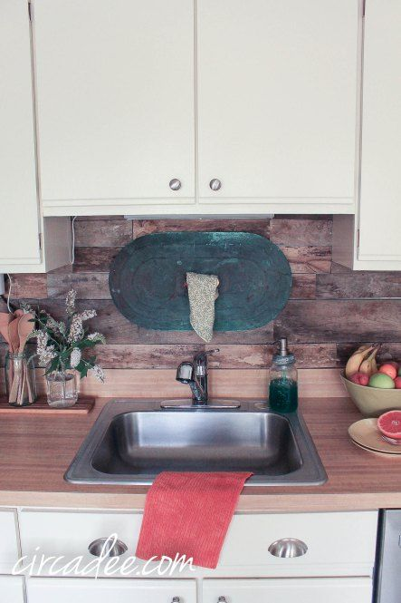 pallet wood kitchen wall backsplash kitchens pinterest