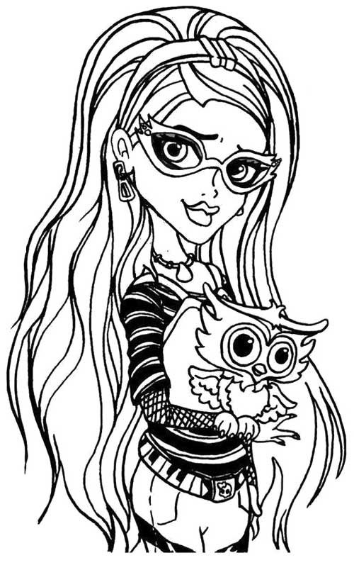ghoulia yelps monster high coloring page my girls