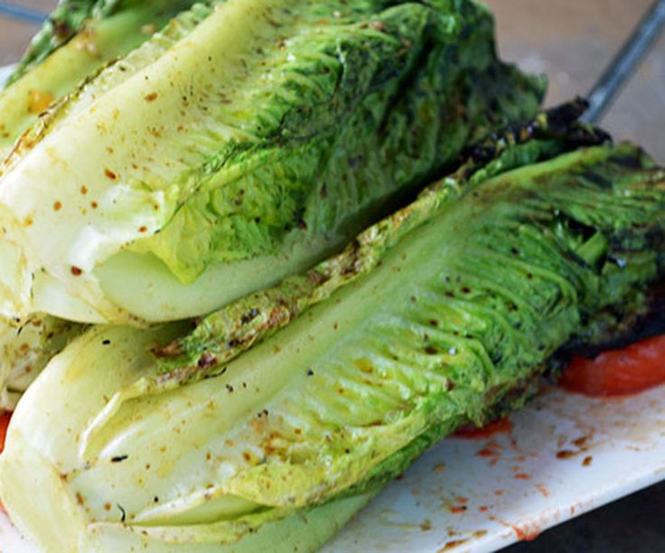 Grilled lettuce: Easy grilled romaine recipe - Girls Gone Sporty