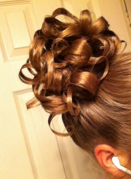 Pin curl/ Curly updo!   Hair   Pinterest