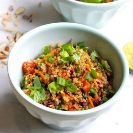 Thai Style Black Quinoa Salad Recipe — Dishmaps