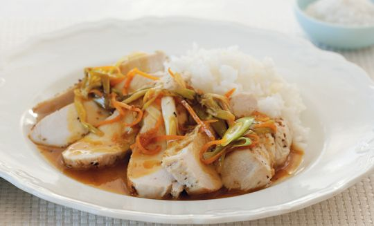 Chicken Breast with Orange Sauce and Spring Onions | Recipe