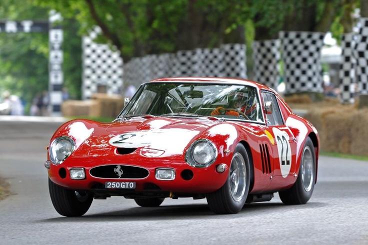 Ferrari 250 GTO of Nick Mason, driven by Marino Franchitti @ Goodwood Festival of Speed 2012
