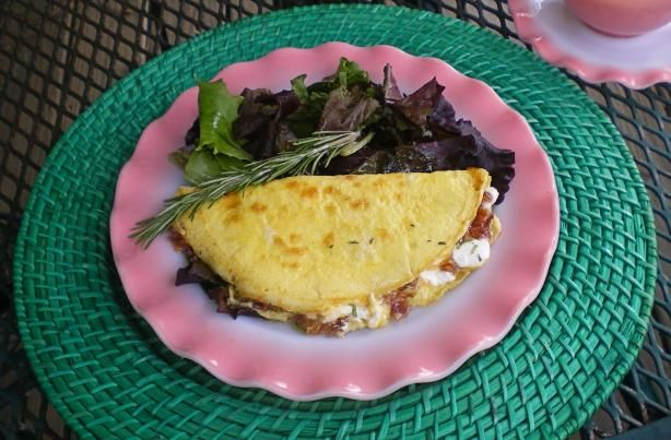 Caramelised Onion And Goats Cheese Omelette Recipe - Food.com - 330186