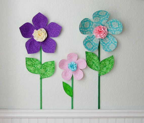 Wall Decal For Girls Room Decor Fabric Wall Flower 3d Wall Decor