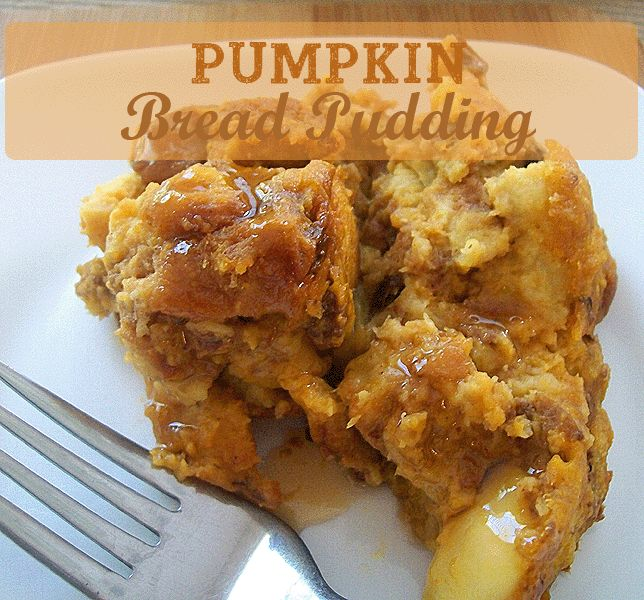 Pumpkin Bread Pudding- easy recipe | Halloween | Pinterest
