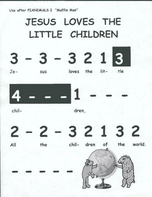 Jesus loves the little children | piano lessons | Pinterest