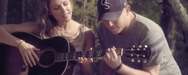 acoustic guitar in CHLLIN' IT by Cole Swindell (2013) @Gibson Guitar
