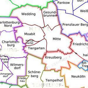 Plan Du Centre Ville De Berlin