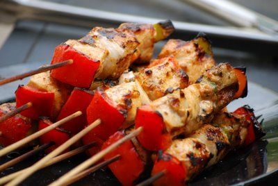 Chicken Fajita Kabobs | Chicken Dishes | Pinterest