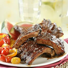 BBQ Ribs with Spicy Girls' Rub and Mop Sauce