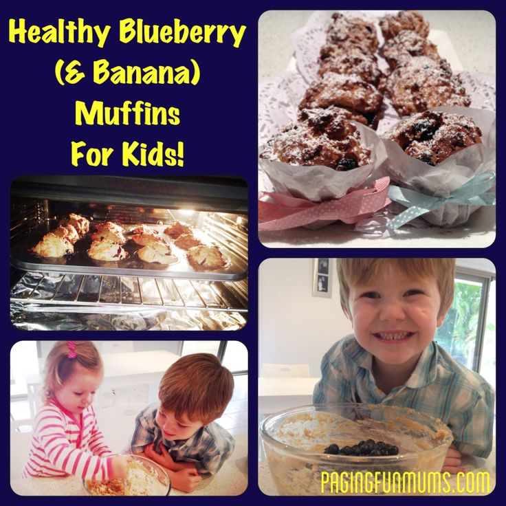 Healthy Blueberry (& Banana) Muffins for Kids - Jenni -
