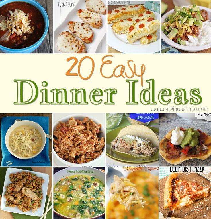 a ideas for dinner easy family Family Dinners