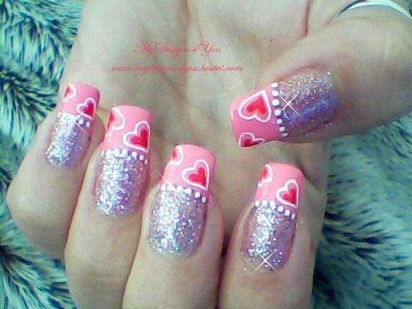 valentine nail pictures