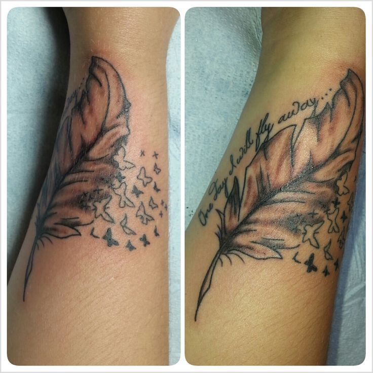 Butterfly flying away tattoos - photo#12