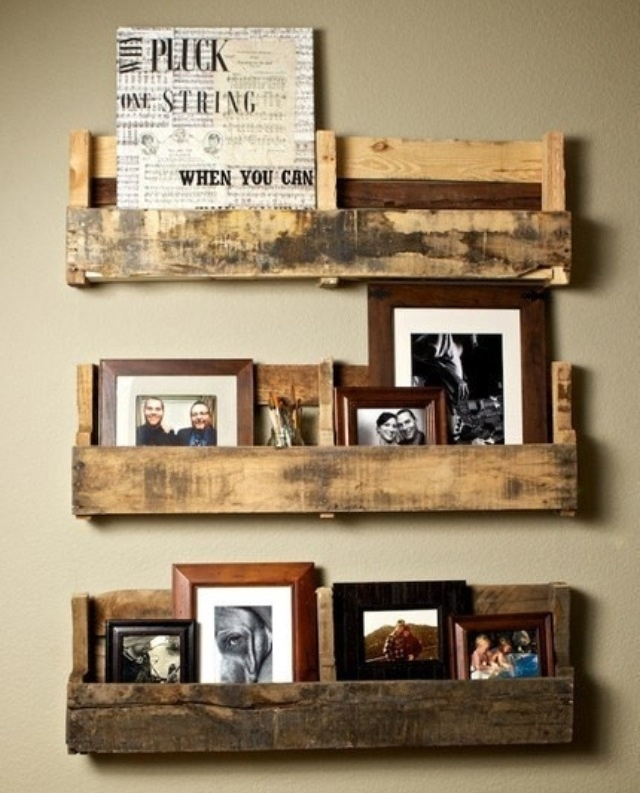 Shelving made from old pallets home decor diy projects for Making storage shelves out of pallets
