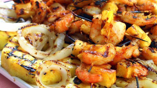 ... Teriyaki Pineapple Shrimp Appetizer for Food Blogger PARTY on the Lake