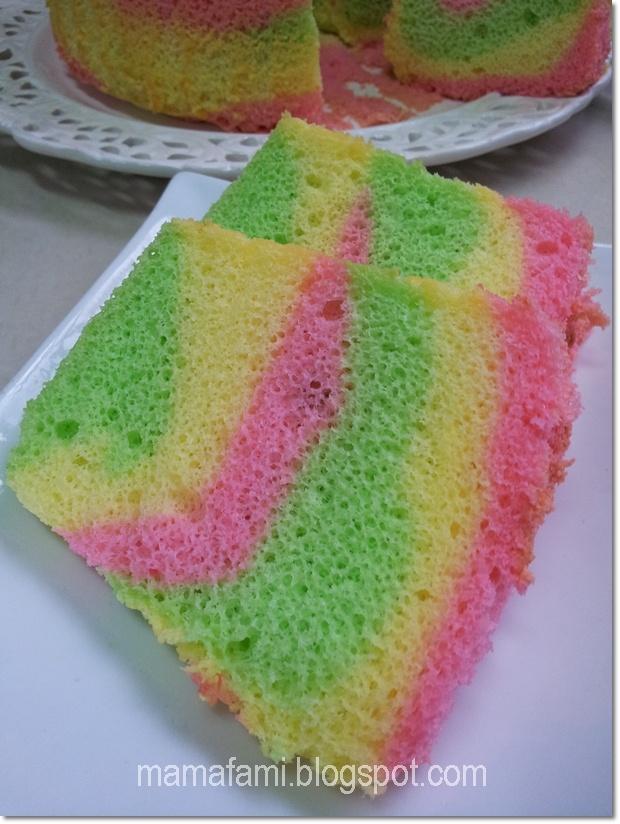Frozen Rainbow Chiffon Cake Recipe — Dishmaps