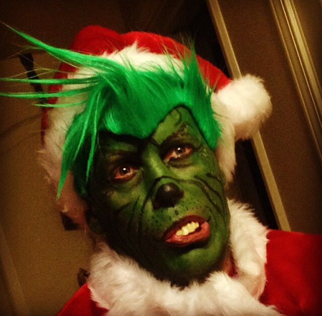 My husband as the grinch face painting pinterest