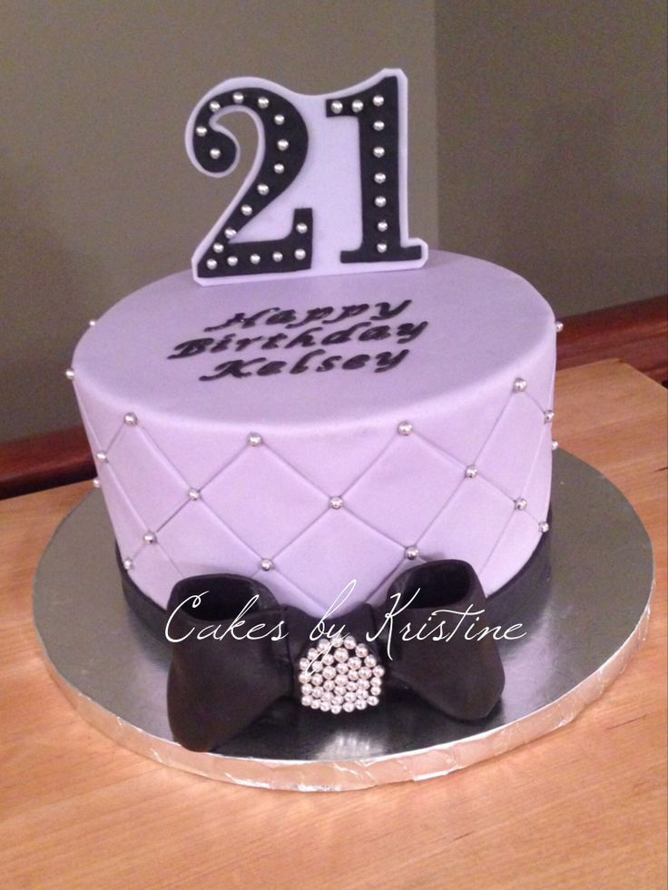 Sophisticated 21st birthday cake 21st ideas pinterest for 21st birthday cake decoration