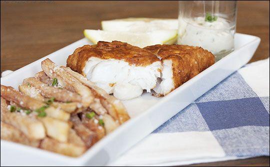 Crispy Beer Battered Fish Sandwich Recipe — Dishmaps
