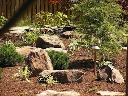 backyard landscaping with stones johnson 39 s landscaping home
