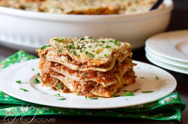 Traditional Sausage Lasagna with Cream Cheese — Punchfork