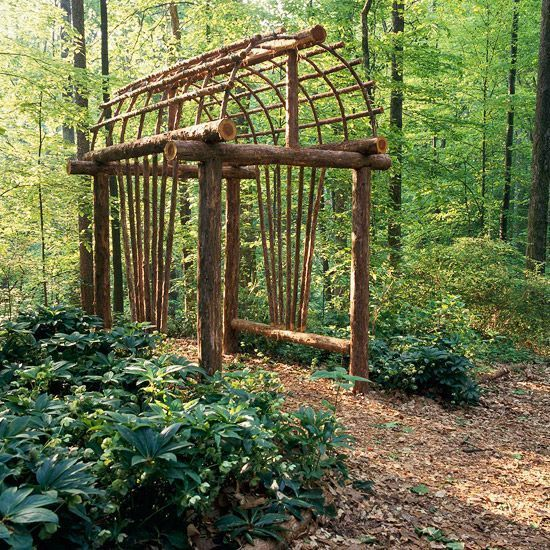 Beautiful live branch arbor gardening pinterest for Help me design my garden
