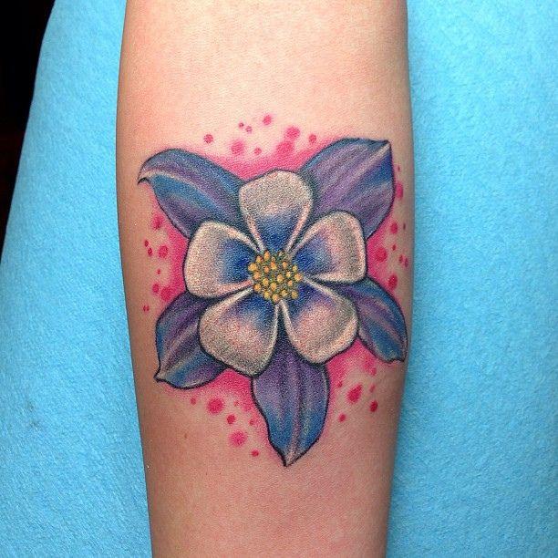 Columbine Flower Tattoo