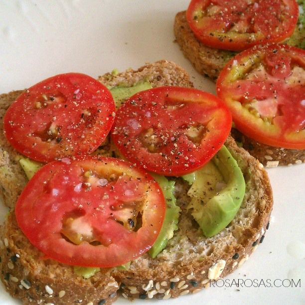Avocado & Tomato Toast | Favorite Recipes | Pinterest
