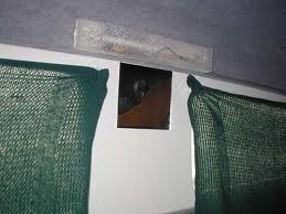 Truck Camper Stick On Towel Grabbers To Create Temporary Curtain Or A Privacy Curtain Over
