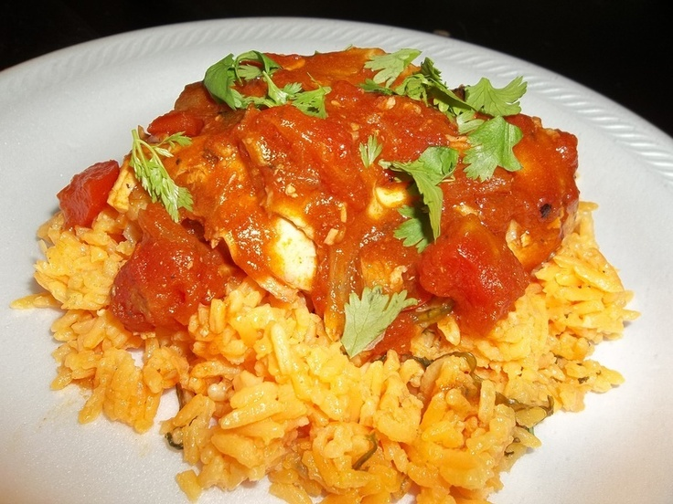 Sofrito Braised Chicken with Sazon Rice | Recipes to try | Pinterest