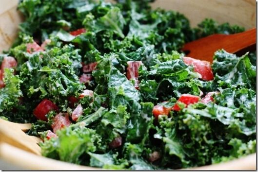 Miso Sesame Dressing on a Massaged Kale Salad. Hands down one of the ...