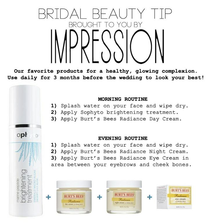 Bridal Beauty Tip Skin Care Routine