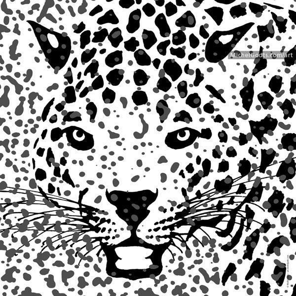jaguar face illustration - photo #6