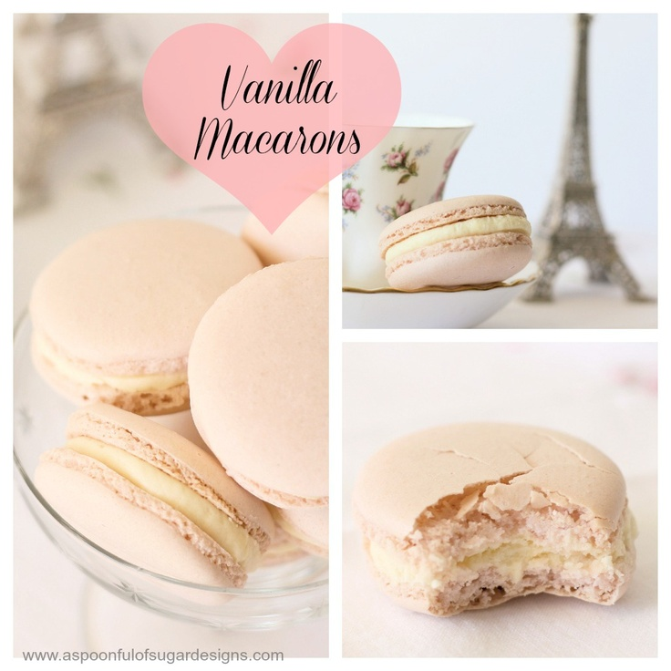 Vanilla Macarons | A Spoonful of Sugar | no willpower. | Pinterest