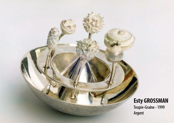 EXPO Espace Solidor - coll de la ville - Esty Grossman - toupie-graine 1999 argent