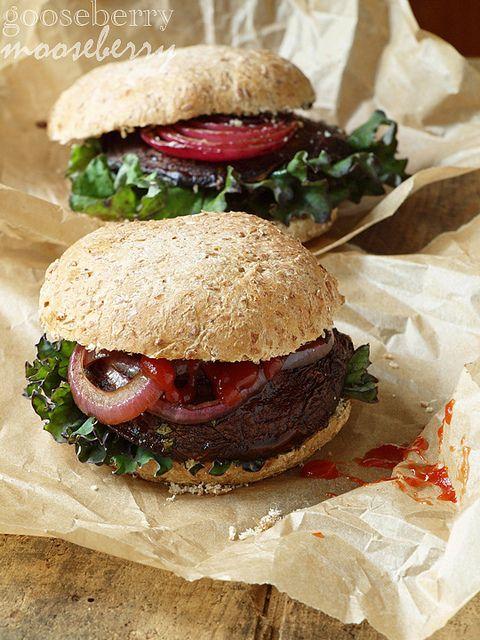 portobello mushroom burgers | Get in my mouth! | Pinterest