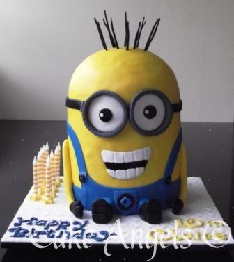 Kevin the Minion Cake!!  Minion Cakes!  Pinterest