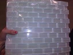 clear glass tiles backsplash remodel pinterest