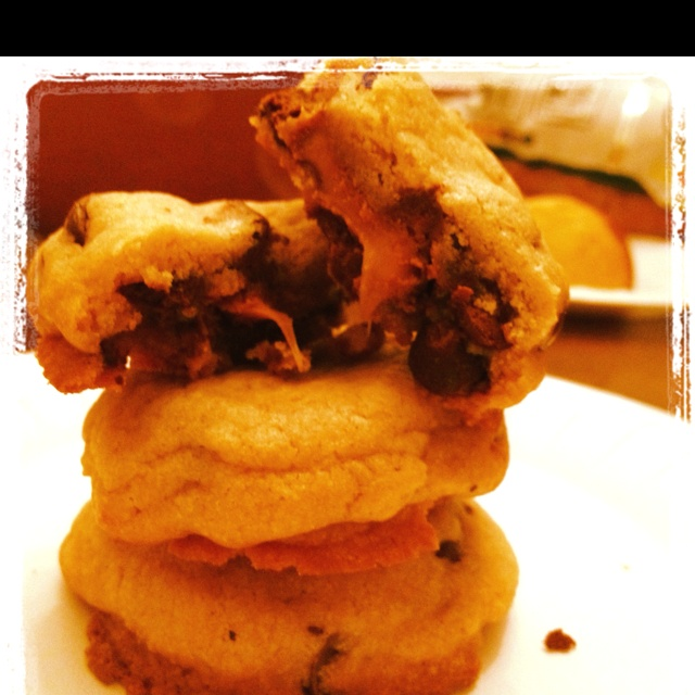 Rolo Chocolate Chip Cookies | Sweets | Pinterest