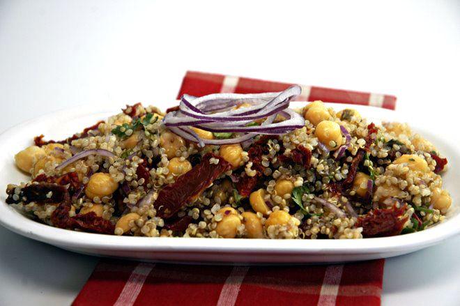 Mediterranean Chickpea Salad - Cooking Quinoa