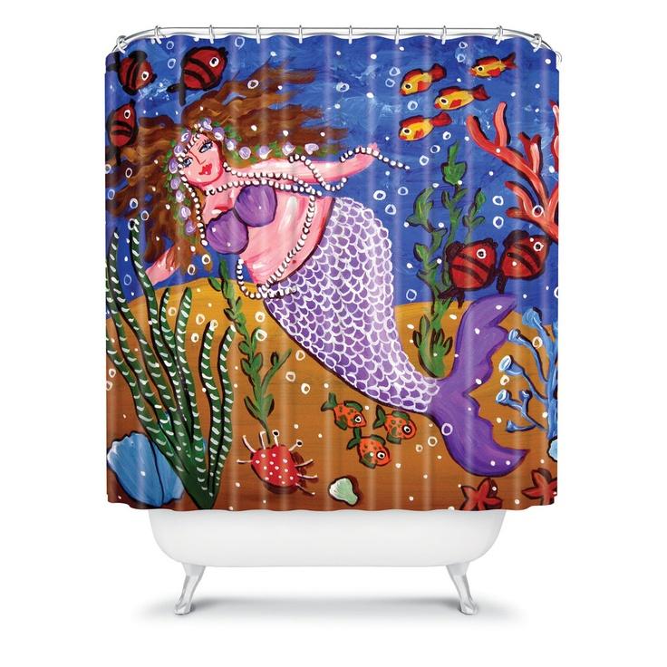 Renie Britenbucher Purple Mermaid Shower Curtain